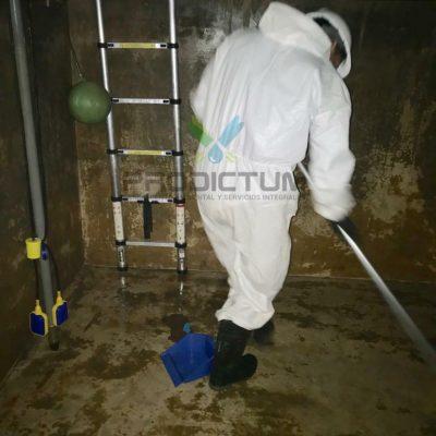 personal realizando Limpieza de Cisterna de Agua en una empresa